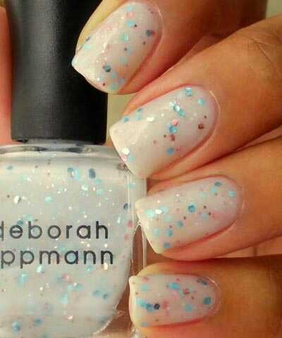 Deborah Lippmann makes quality polish with some beautiful glitter combinations. Glitter makes for an easy paint job. Try her selection at Sephora.