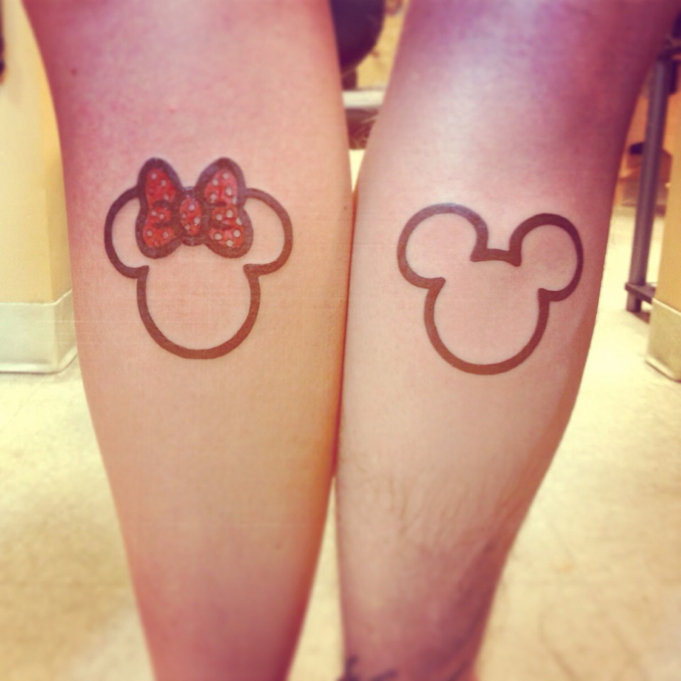 Minnie and Mickey so cute and perfect for couple tattoo