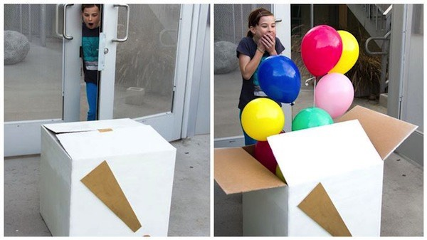 Make your own baloon surprise box!