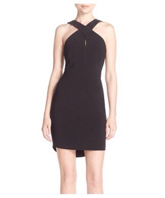 Adelyn Rae Crossover Neck Crepe Sheath Dress (nordstrom.com)