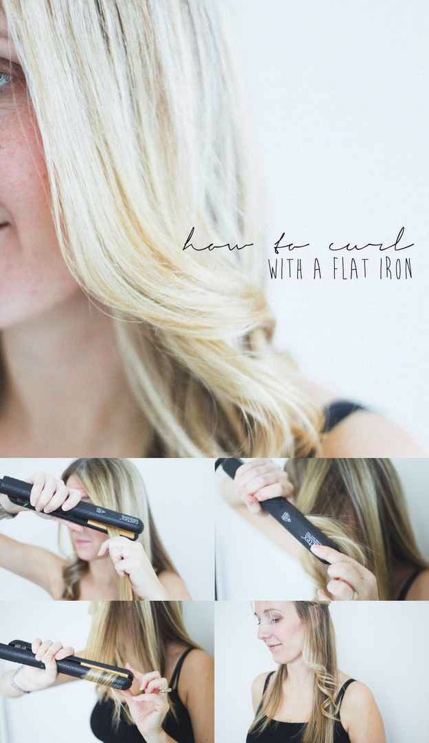 You can curl your hair with a flat iron.