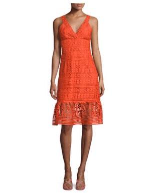 Diane von Furstenberg Tiana Sleeveless Lace Flounce Dress (neimanmarcus.com)