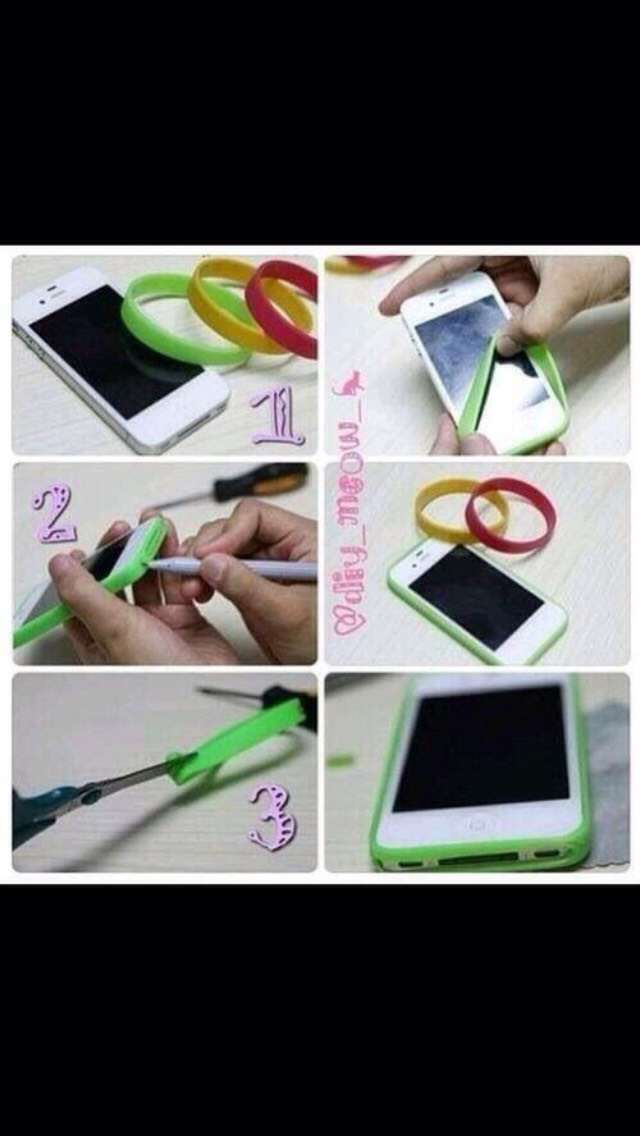 Create a bumper case for your phone with a band!