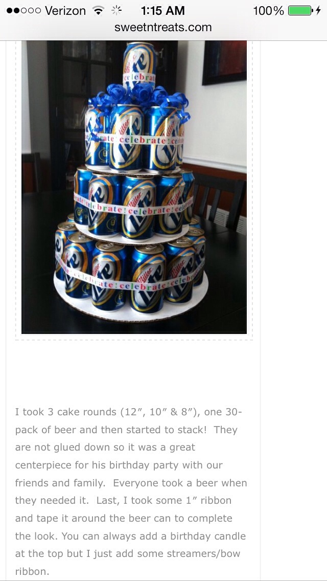 Musely - Beer Can Wedding Cake