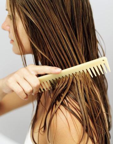To prevent damage, only brush and detangle your hair with a wide tooth comb when wet.