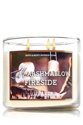 Gather 'round the bonfire with toasted marshmallows, smoky woods & sweet vanilla