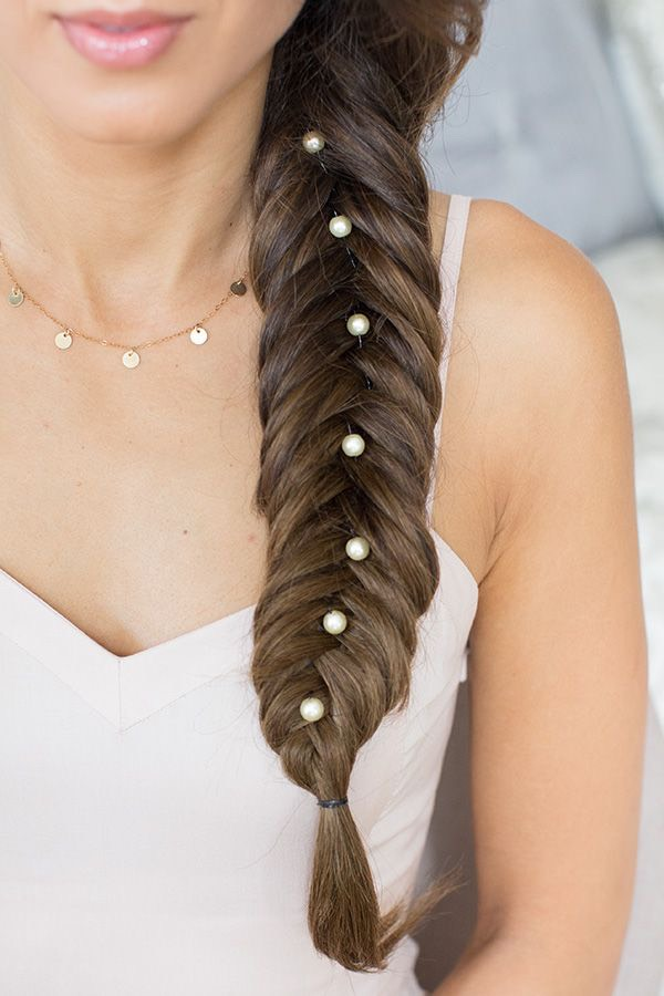 Next a beautiful fish tail plait this time using 4 strands this time