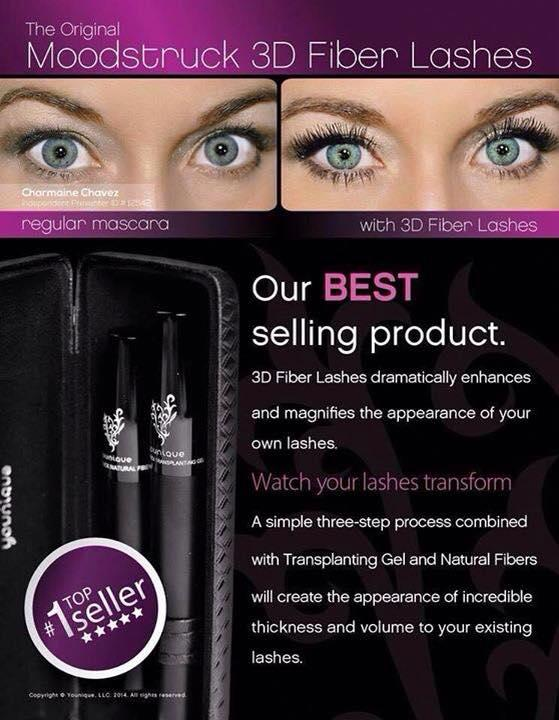 Younique's BEST selling mascara our popular 3D mascara, naturally based & increases your lashes by upto 300%!!