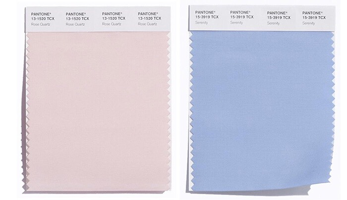 Thees are the two colors..... Rose quarts and serenity.  This is the first year Pantone has come out with two colors. Thees color are very trendy right now💙💗