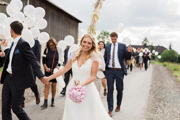8. A Touch of Whimsy: We love the idea of this balloon march from one venue to the next, (with a release at the end!), you could also have a waltz lesson, an open mic for toasts or some fun games to bring your guests together and feeling the love.