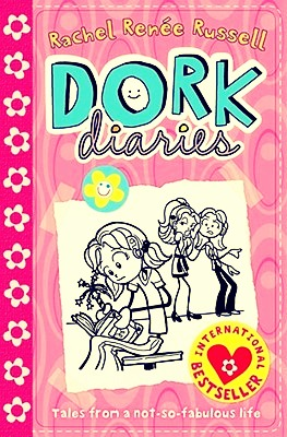 Dork diaries is about a girl who starts high school but she is only able to start cause her dad works In the school as a bug saver or something like that her enemy is Mackenzie her BFFS are Chloe and Zoey .