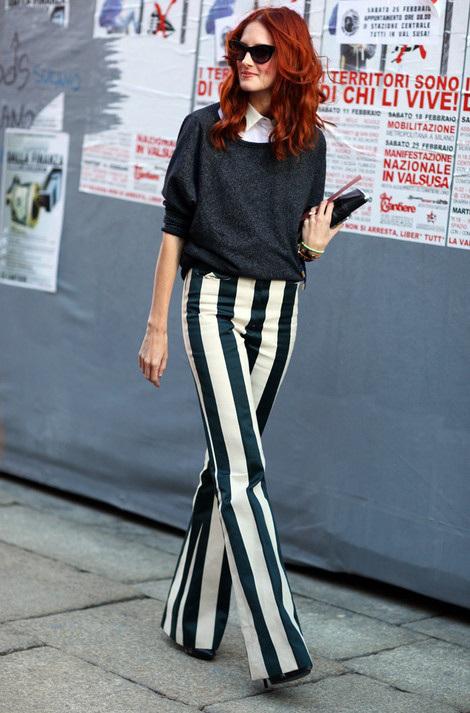 vertical stripes = longer (looking) legs