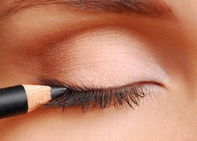 smudge eyeliner put eyeliner over a lighter  for 2 seconds and let cool for 10