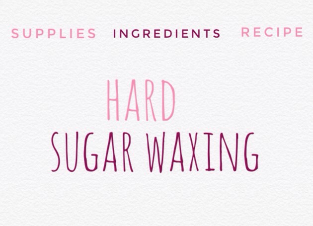 The second type of sugaring is known as hard sugar wax + is meant to be thicker, darker, + pliable in your hands. The acid from the lemon juice is what gives this wax its texture + stickiness.