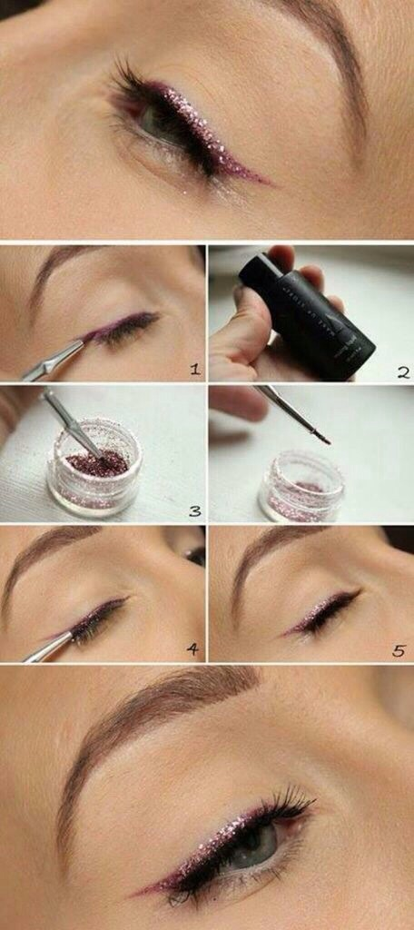 Brush easy eyeliner glitter pink pretty 👍