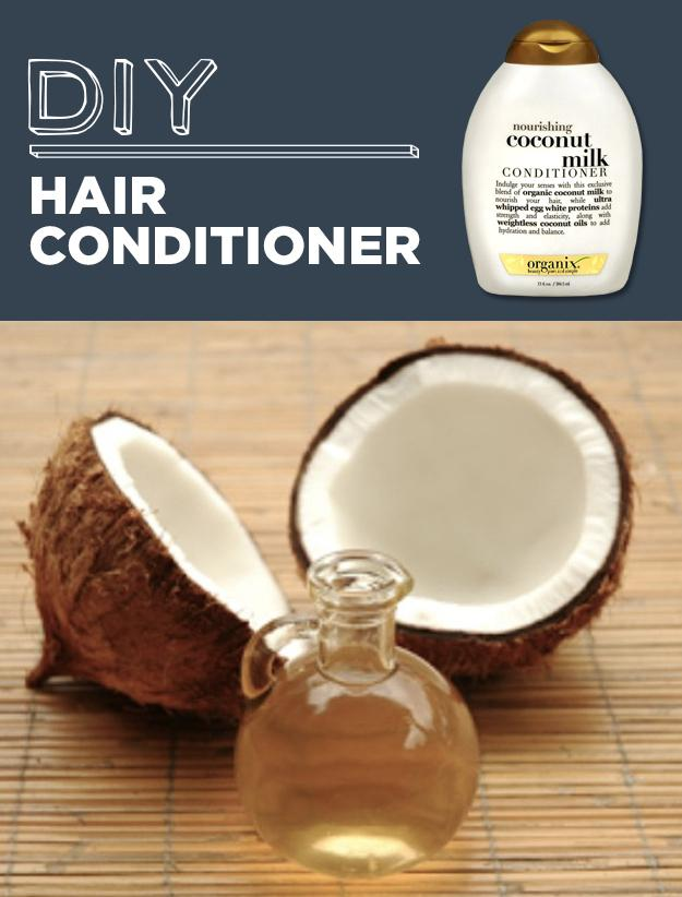 20. DIY Hair Conditioner Mix together 1 can of coconut milk, 1 tablespoon of honey, and 1 tablespoon of olive oil.