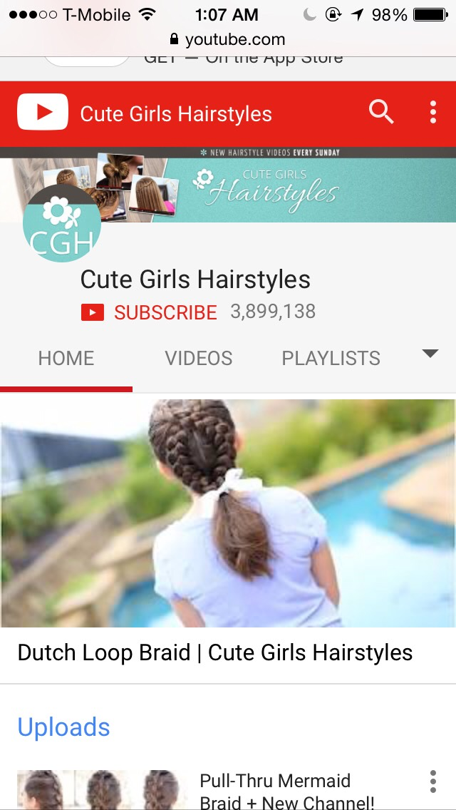 This is where I watch mostly all my tutorials for hair. They make it simple to do.