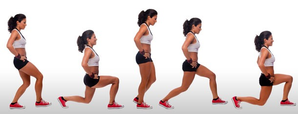 Do 20 lunges for each leg