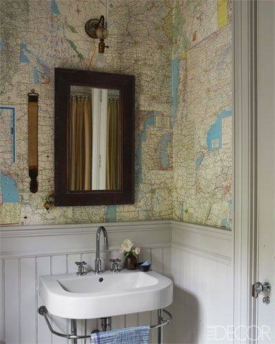 Use your old maps as wallpaper