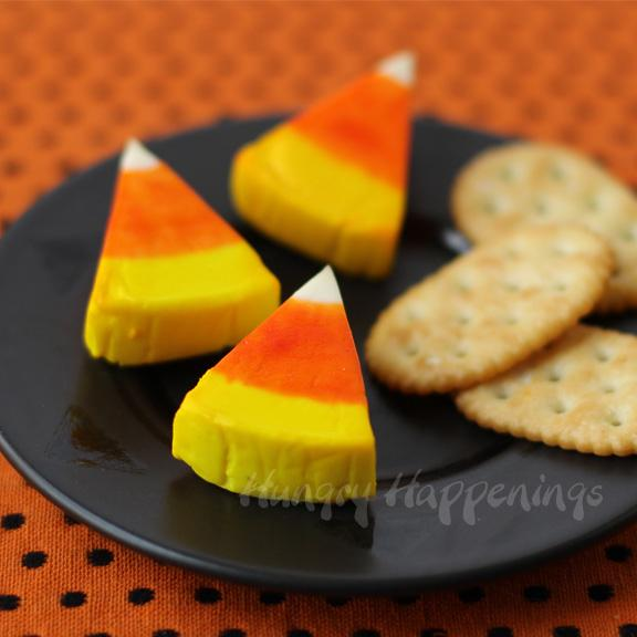 Candy Corn Cheese Wedges  Candy corn may be a love-it-or-hate-it food, but cheese is a universal favorite.