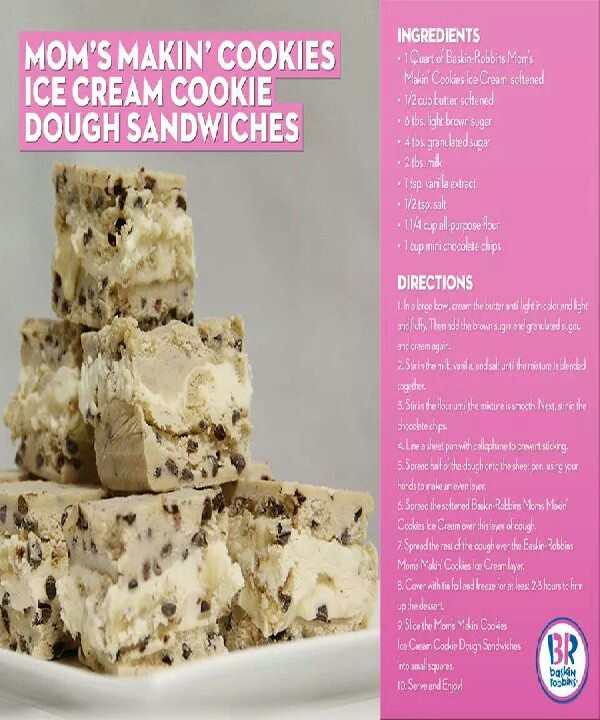 Ice Cream Cookie Dough Sandwichs