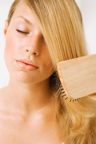 To make your hair EVEN SOFTER, before putting your hair in the cold water, brush it, then---