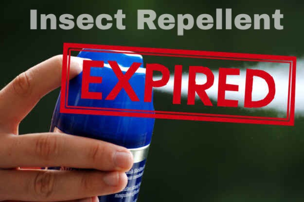 Insect repellent loses effectiveness after around two years from the manufacture date, which should be marked on the bottle. Don't let the bugs win. Solution: Check the date before you buy to make sure it isn't already old, and get new spray every couple of years.