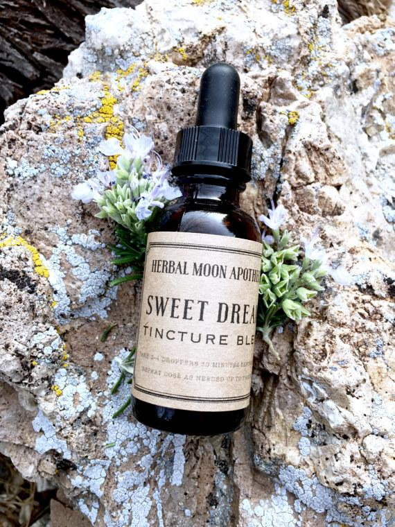 This stress and insomnia-relieving tincture.By Herbal Moon Apothecary,