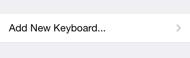 Step 5: Click on Add New Keyboard