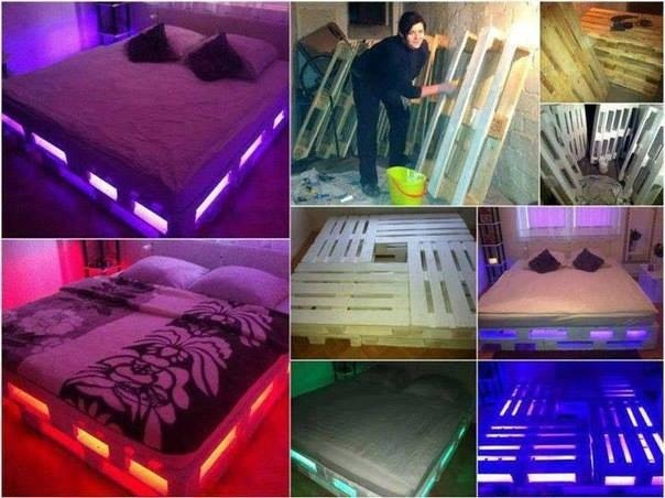 What a funky idea.. Perfect for a teen, young adult or anyone that wants a little funk in their bedroom ... And with Clear lights inside it would make more of a relaxing/romantic feel