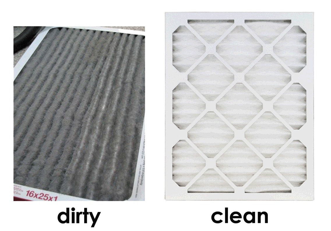 Remove your air conditioner filter and vacuum excess dirt and dust thoroughly. With equal parts of water and vinegar, soak the filter for four hours. Do not rinse when the soak is complete. Lay the filter out to dry naturally.