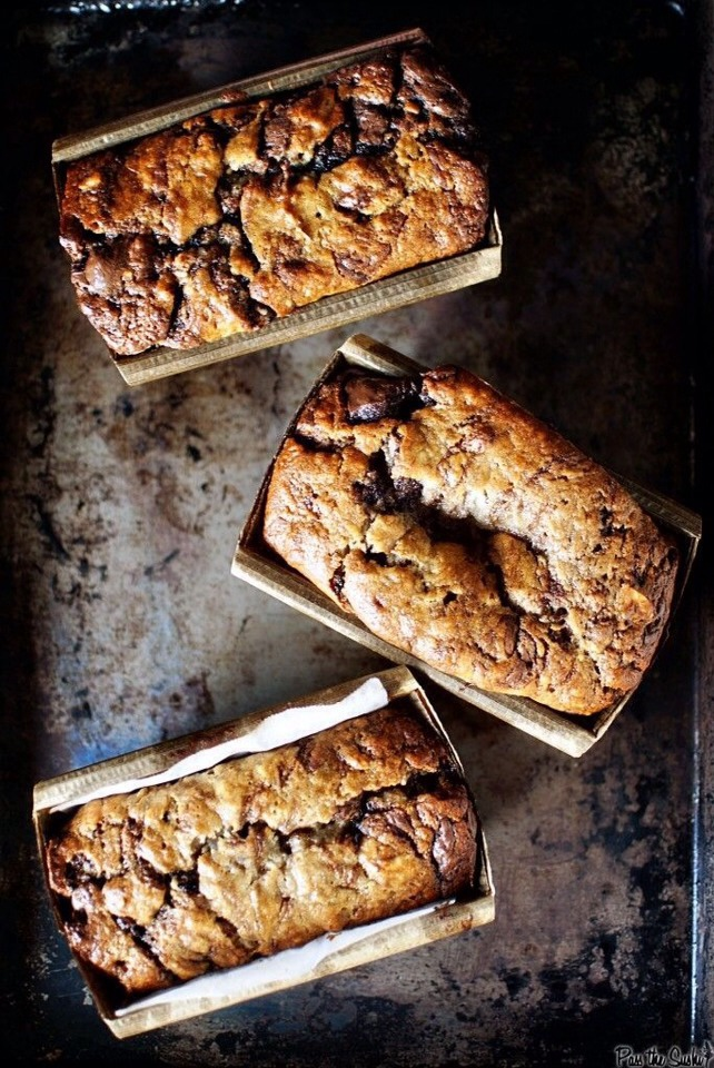URL to article: http://passthesushi.com/banana-bread-with-nutella-swirls/