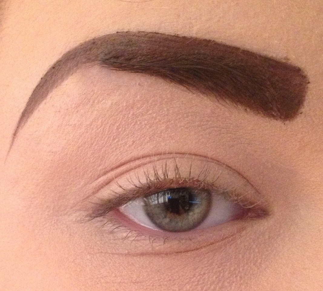 Only fill in the thin parts of your brows, or you'll look fake and overdone like her