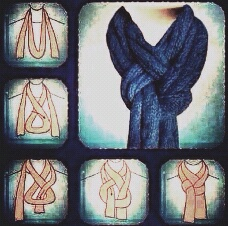 Fancy way to wear your scarf