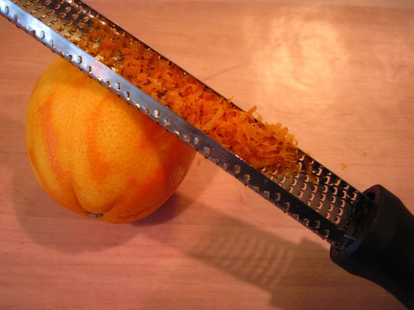 1. Zest the oranges.  Zesting the oranges is quick and easy with a Microplane zester.