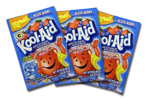 Put the kool-aid packets into the boiling water