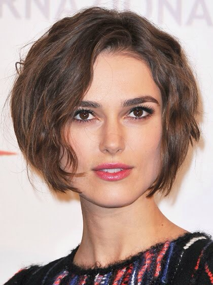 FOR SQUARE FACES: THINNED-OUT BOB A soft, tapered bob that hits right around the chin works beautifully on a square face.