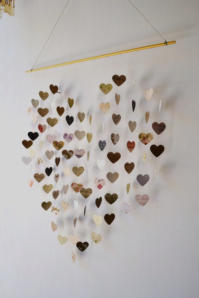 💛The love letters mobile, how unique!💛  👇Make your own or order one here!👇  https://www.etsy.com/listing/114324326/large-love-letters-mobile-wall-hanging?category=weddings.decor.more