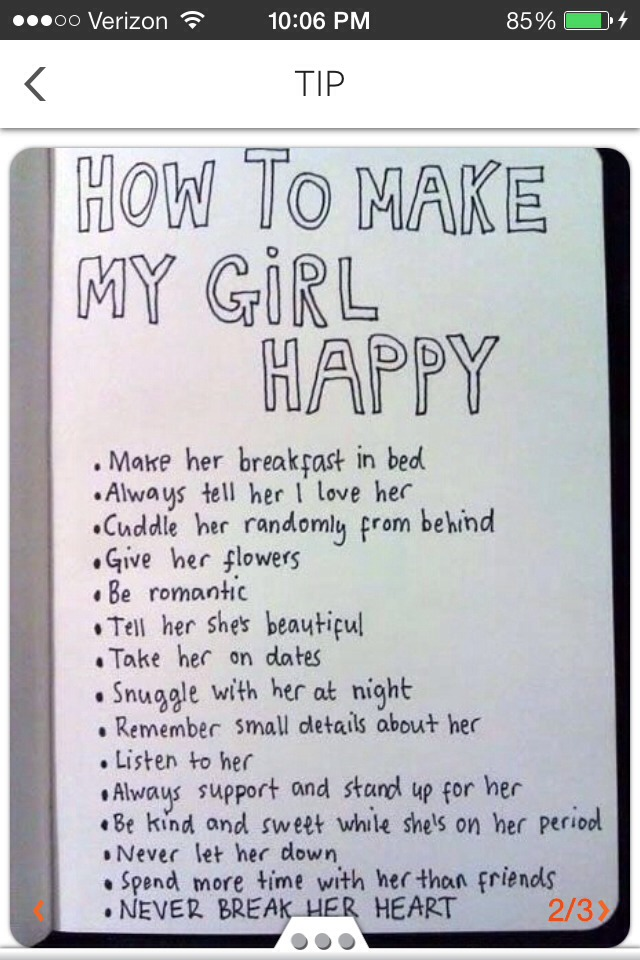 how to make a gal happy