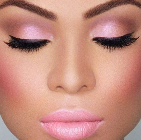 Even adding this colour to your cheeks as well gives a sweet rather than cakey look.