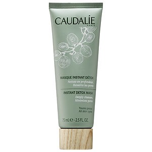 Caudalie! I love that brand! This Mask is fantastic for oily skin and to give glow. It Does a deep cleansing and Will help to shrink your pores!