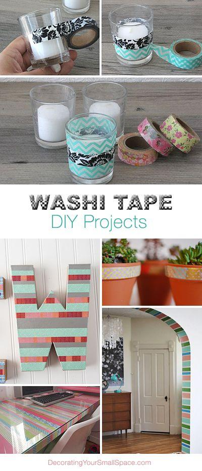 http://www.decoratingyoursmallspace.com/washi-tape-diy-projects/