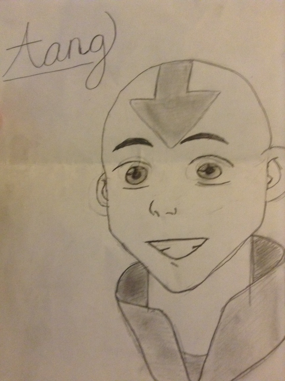 """This is Aang. He is the main character in the tv show """"the avatar"""""""