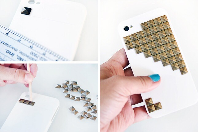 15. Gold Studded Case: More studs? Why not? We're digging the Tetris-like pattern.
