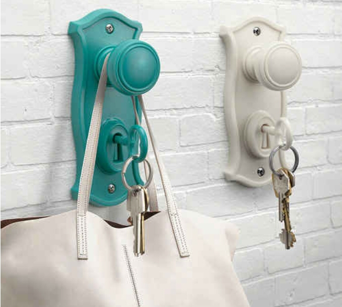 Keep your keys and bags handy in a cute way. ($21.99)  http://www.animicausa.com/shop/Doorman-Key-holder-and-hook/tpflypage.tpl.html