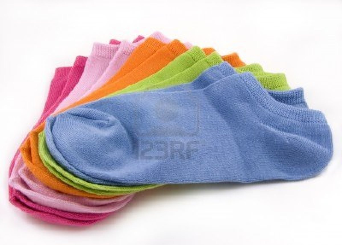 What you'll need.  At least 10 or more ankle socks.