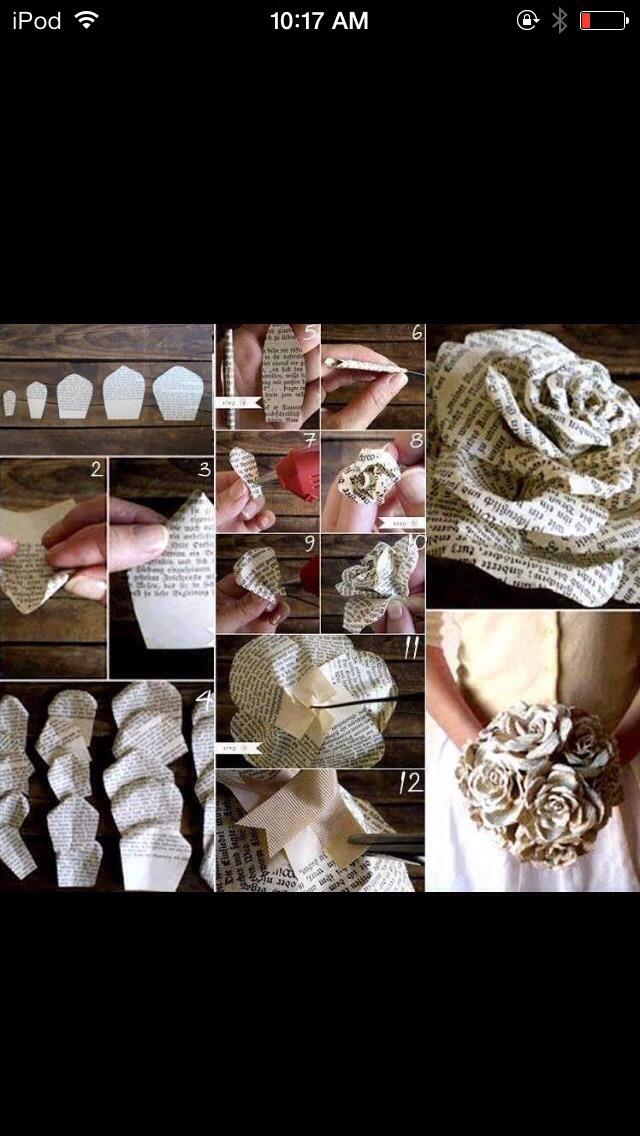 DIY paper roses (: