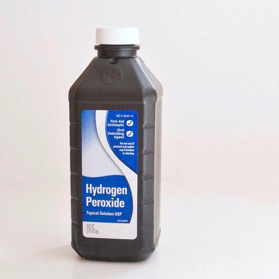 Add 1 tablespoon of 3% hydrogen peroxide