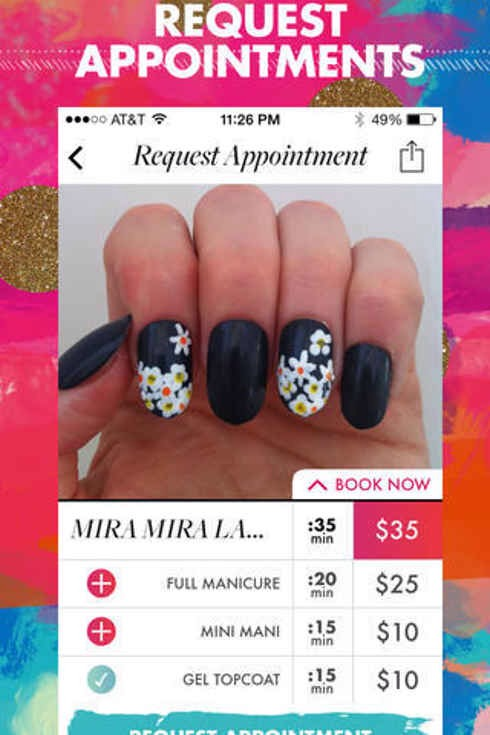 2. Top Coat lets you browse and book local nail artists based on their uploaded photo.