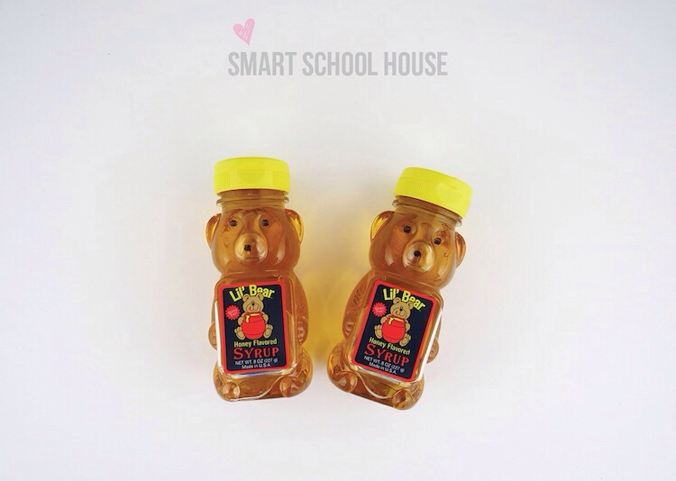 What to do:  •empty these honey bear containers •put any kind of milkshake inside •make your own cute lable the stick it on!